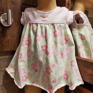 Carter's Girl 6 Mo. Dress 100% Cotton Pink Floral